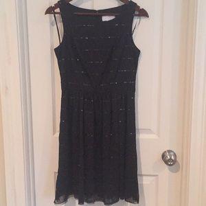 Jessica Simpson black dress with sequins